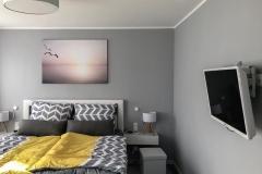 Schlafzimmer mit Multimediaausstattung
